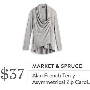 Market & Spruce Alan Asymmetric Moto Cardigan